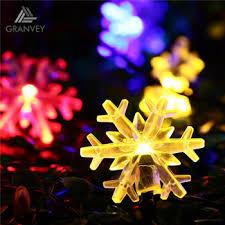 falling snowflake christmas lights festival christmas outdoor garland ls 6m 30led falling snow ball