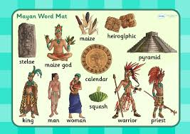 mayan empire map ks2 mayan civilization word mat historical study mayan