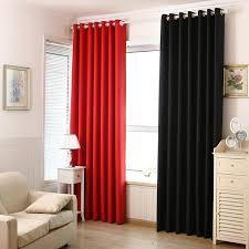 vorhã nge fã r schlafzimmer aliexpress moderne rot und schwarz luxus blackout