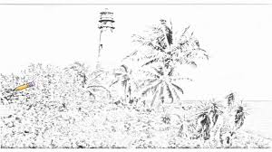 Florida Lighthouses Map by Auto Draw 2 Cape Florida Lighthouse Key Biscayne Coastline