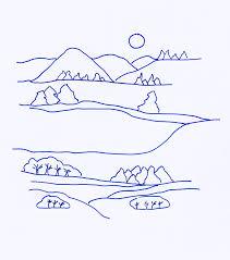 coloriage d u0027un paysage d u0027hiver tête à modeler