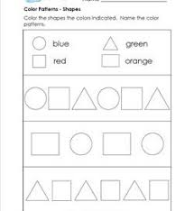 color patterns worksheets for kindergarten a wellspring