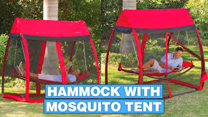 this hammock tent helps you relax in a hammock with no mosquitoes