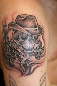 skull cowboy western tattoo in 2017 real photo pictures images