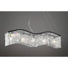 Crystal Light Fixtures Dining Room - rectangular shade chandelier foter
