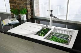 spüle küche küchenspülen aus edelstahl granit oder keramik