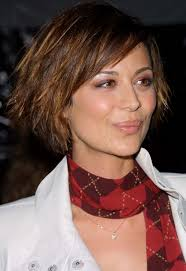 edgy bob hairstyle short layered funky edgy bob haircut catherine bell s
