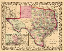 United States Map 1860 by Old Map Texas With An Inset Of Galveston Bay 1860