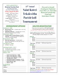 11th annual saint kateri tekakwitha parish golf tournament st
