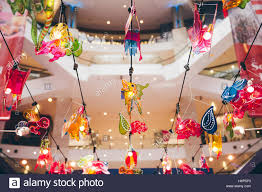 moon festival decorations lantern decorations in the mall during mid autumn festival aka
