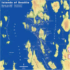 Map Of Washington Coast by Islands Of Seattle The Whole U