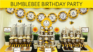 Bumblebee Birthday Party Ideas Smiling Bumblebee B28