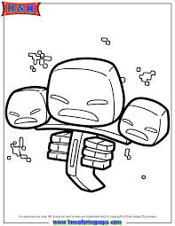 wither monster coloring u0026 coloring pages