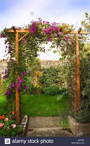 Garden Trellis Archway Trellis Arch In Pretty English Country Garden Stock Photo Royalty