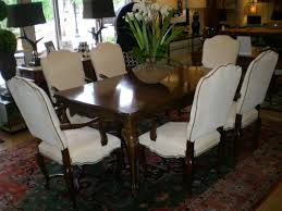 baker 18th century louis xv dining table with six regency arm