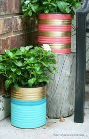 Tin Can Table Decorations 20 Tin Can Craft Ideas Flower Vases And Plant Pots Table