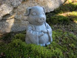 pig statue meditating buddha pigs zen animals pig figures