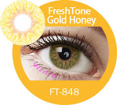 freshtone colored contact lenses extra series gold honey color