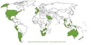 World Map Malta Showing Malta by Work Experience Sparsholt College Hampshire