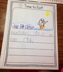 penguin writing paper a spoonful of learning penguins week 2 we read tacky the penguin and did a story map