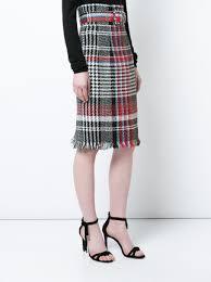 plaid skirt oscar de la renta belted plaid skirt 2 372 shop ss18 online