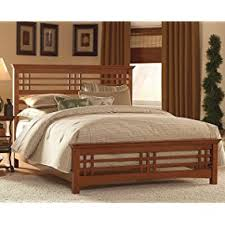 amazon com avery complete bed with wood frame and mission style
