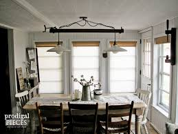 Farmhouse Dining Room Lighting Diy Farmhouse Lighting Kitchen Remodel Continues Prodigal Pieces