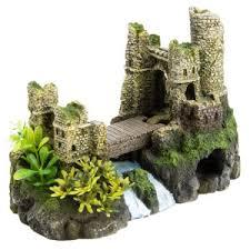 21 top fin castle bridge aquarium ornament dimensions 9 l x