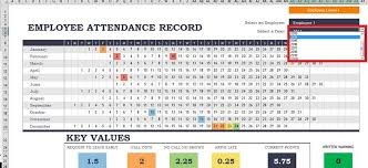 Office Excel Templates Sle Attendance Tracking Daily Staff Attendance Record Excel