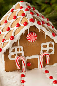 homemade candy gingerbread house stock photo image 47821319