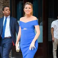 blake lively wearing a blue cutout dress june 2016 popsugar fashion