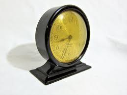 Small Desk Clock Westclox Tiny Tim Small Desk Clock Brown Bakelite 1920s