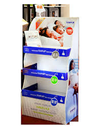 pos pillow point of sale display rack free standing cardboard