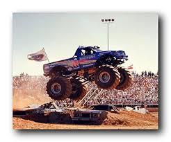 grave digger monster truck poster amazon com bigfoot monster truck wall decor art print poster