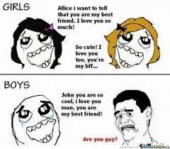 Girls On Facebook Meme - funny images com girls vs boys difference meme laughing colours