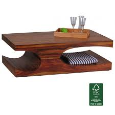 Wohnzimmertisch Oval Finebuy Couchtisch Massiv Holz Sheesham 120 Cm Breit Wohnzimmer