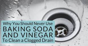 clogged bathroom sink baking soda vinegar why you should never use baking soda and vinegar to clean clogged