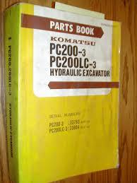 komatsu pc200 3 pc200lc 3 parts manual book catalog excavator hyd