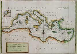 Map Of The Mediterranean Mediterranean A Chart Of The Mediterranean Sea According To Monsr