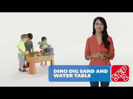 Water Table For Kids Step 2 Double Play Step2 Dino Dig Sand U0026 Water Play Table Youtube