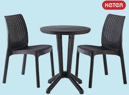 tavoli sedie set rattan bistrot antracite keter 2 sedie con tavolo tavoli