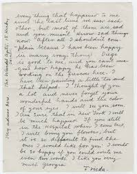 frida kahlo u0027s touching letter to a troubled georgia o u0027keeffe 1933