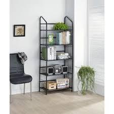 Metal Bookcase Home Decorators Collection Black Steel Bookcase R597 5 The Home