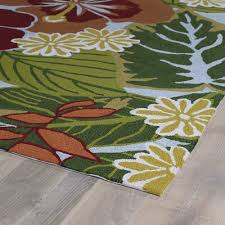 Outdoors Rugs by Shop Matira Blue Tropical Garden 5ft X 7ft 6in Outdoor Rug