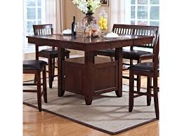 Kitchen Table With Storage by New Classic Kaylee Counter Height Table With Storage Pedestal Base