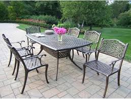 Cast Aluminum Patio Table And Chairs Cast Aluminum Patio Table Juniorderby Me