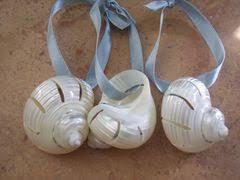 coastal decorations glass ornaments with sand shells sea