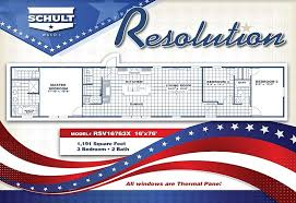 Schult Modular Home Floor Plans The Resolution Rsv16763x 3 Bed 2 Bath Mobile Home For Sale