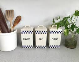 kitchen ceramic canisters vintage ceramic kitchen canisters etsy