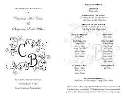 downloadable wedding programs wedding ideas wedding program templates free lovely printable